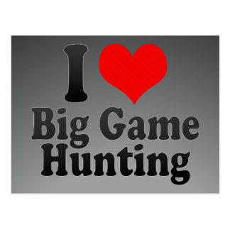 I love Big Game Hunting Postcard