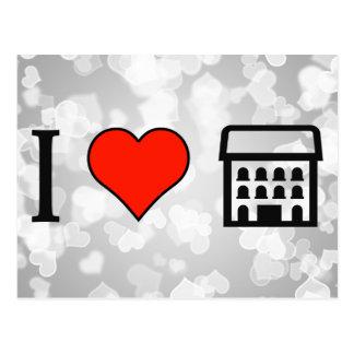 I Love Big House Postcard