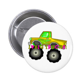 I Love Big Trucks 6 Cm Round Badge