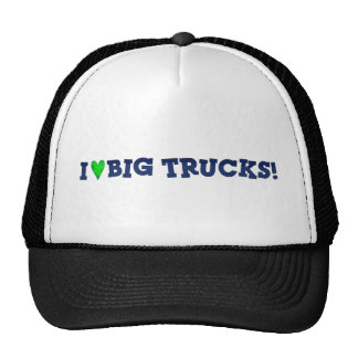 I Love Big Trucks Text On All Clothing Hats