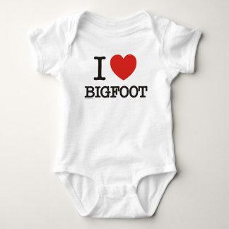I Love Bigfoot Baby Bodysuit