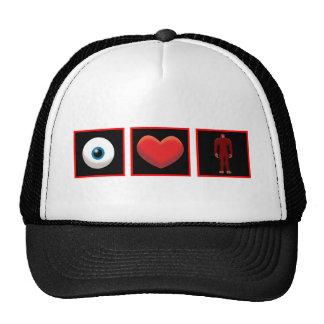 I LOVE BIGFOOT TRUCKER HATS