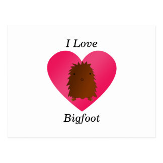 I love bigfoot postcard