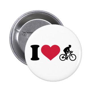 I love bike cycling 6 cm round badge
