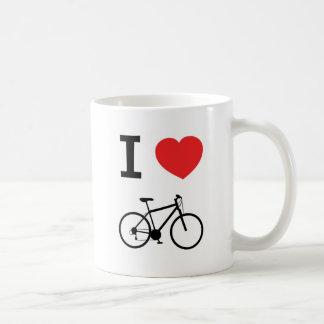 I love bikes basic white mug