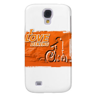 I Love Biking Bars Samsung Galaxy S4 Cases
