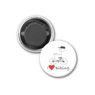I Love Biking Gifts and Apparel 3 Cm Round Magnet