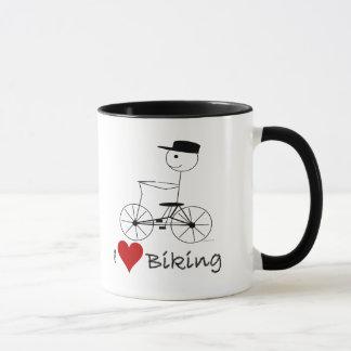 I Love Biking Gifts and Apparel Mug