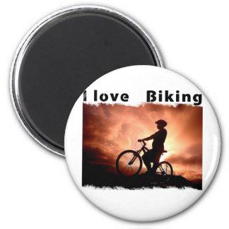 I Love Biking Gnarly Fridge Magnets