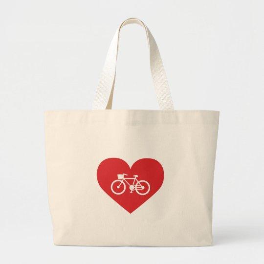I Love Biking Large Tote Bag