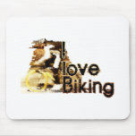I Love Biking Wipe Out Mouse Pads