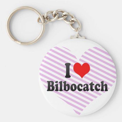 I love Bilbocatch Basic Round Button Key Ring