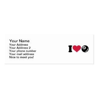 I love Billiards eight ball Business Card Templates