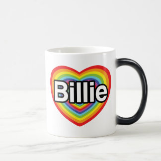 I love Billie: rainbow heart Mug