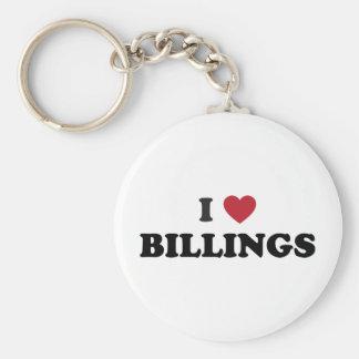 I Love Billings Montana Key Chains
