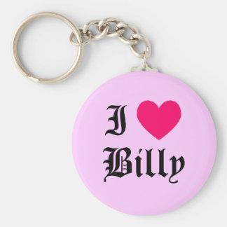 I Love Billy Key Ring