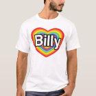 I love Billy: rainbow heart T-Shirt