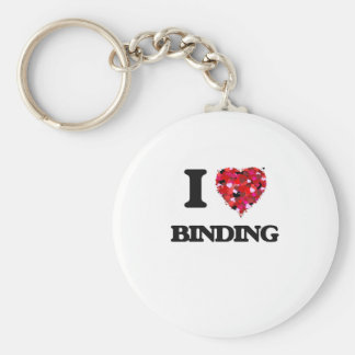 I Love Binding Basic Round Button Key Ring