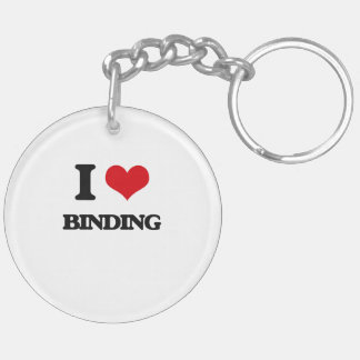 I Love Binding Double-Sided Round Acrylic Key Ring