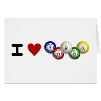I Love Bingo Card