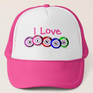 I Love Bingo Fun Colorful Bingo Balls Design Trucker Hat