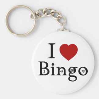 I Love Bingo Key Ring
