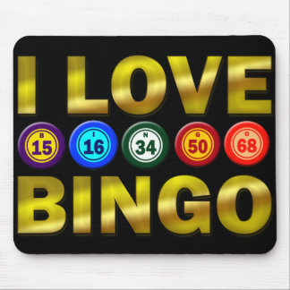 I LOVE BINGO MOUSE MAT