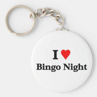 I love bingo night basic round button key ring
