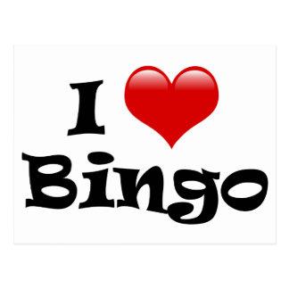 I Love Bingo Postcard