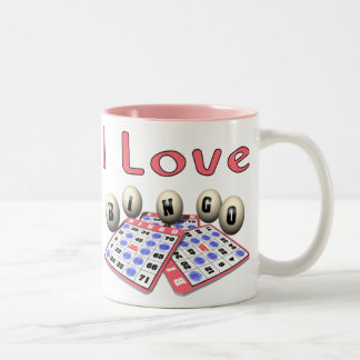 I Love Bingo Two-Tone Coffee Mug