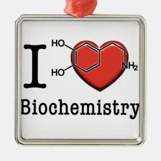 I Love Biochemistry Christmas Ornament