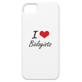 I Love Biologists Artistic Design Case For The iPhone 5