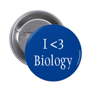 I Love Biology 6 Cm Round Badge