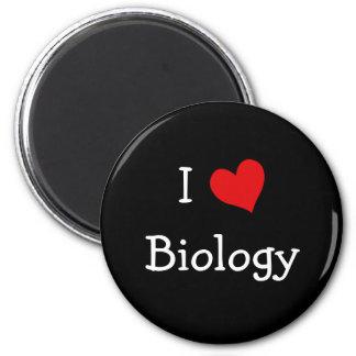 I Love Biology 6 Cm Round Magnet