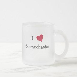 I Love Biomechanics Frosted Glass Coffee Mug