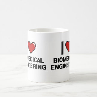 I Love Biomedical Engineering Digital Design Classic White Coffee Mug