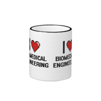 I Love Biomedical Engineering Digital Design Ringer Coffee Mug