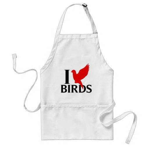 I Love Birds Apron