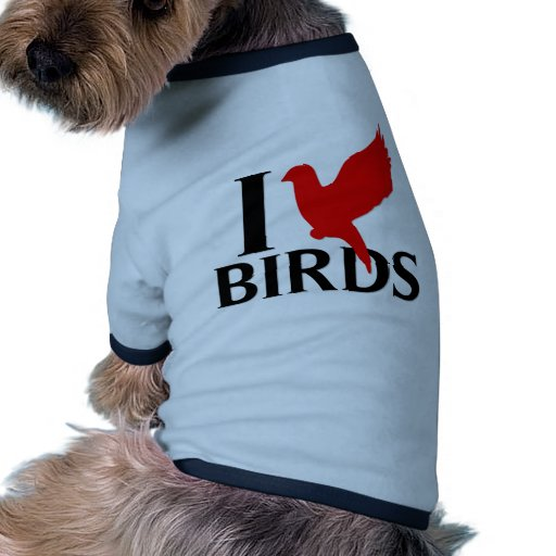 I Love Birds Dog Tee