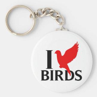 I Love Birds Key Chains
