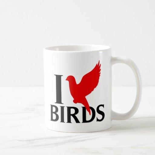I Love Birds Coffee Mug