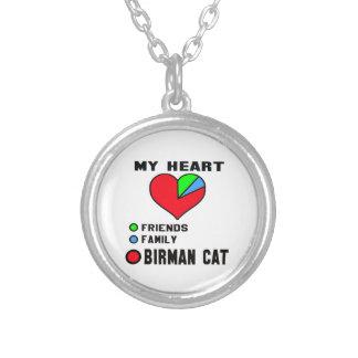 I love Birman. Round Pendant Necklace