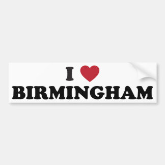 I love Birmingham Alabama Bumper Sticker