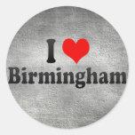 I Love Birmingham, United Kingdom Round Sticker