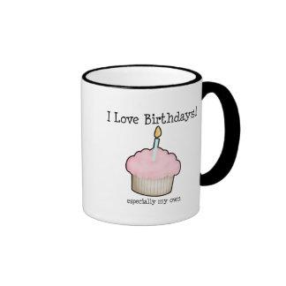 I love birthdays ringer mug