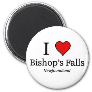 I love Bishop's Falls 6 Cm Round Magnet