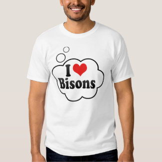 I Love Bisons Tshirt