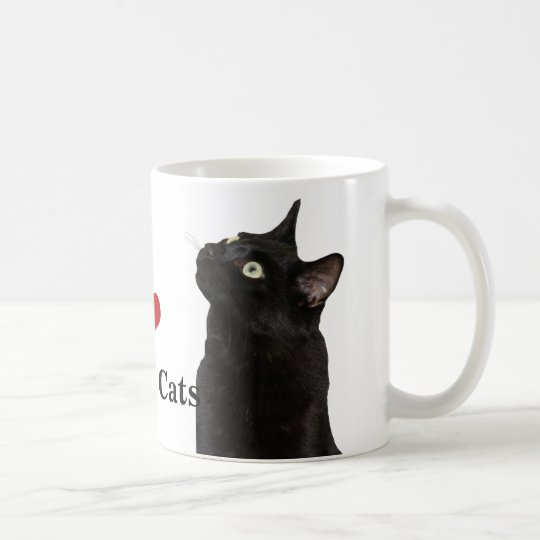 I Love Black Cats Mug