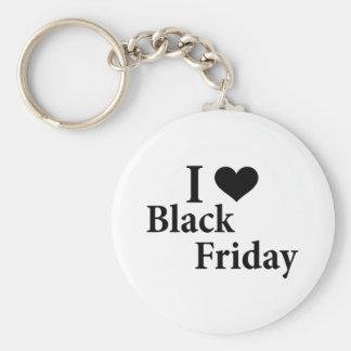 I Love Black Friday Basic Round Button Key Ring