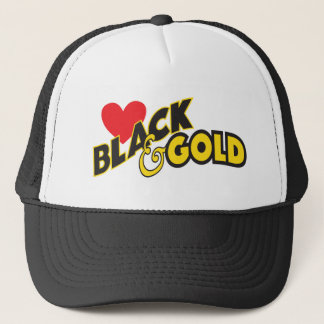 I LOVE BLACK & GOLD HAT